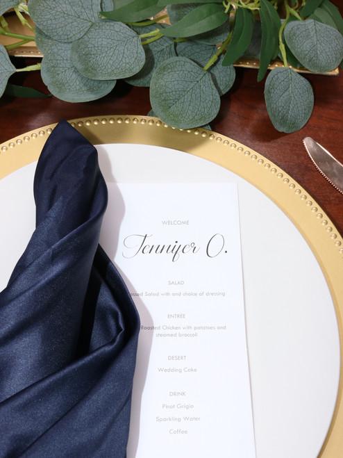 navy blue l'amour napkins