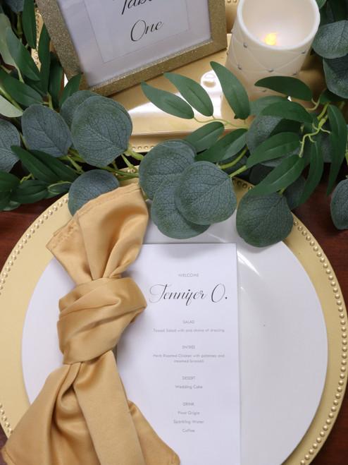 gold lamour napkins