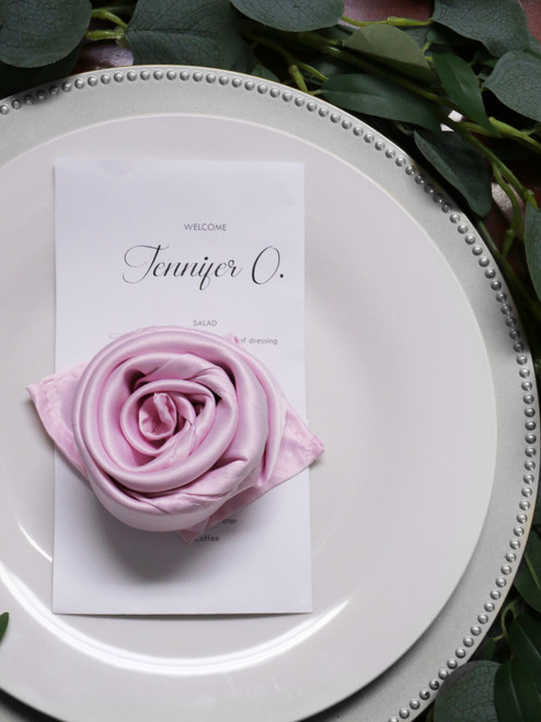 10 Pack 20 Inch L'amour Satin Napkins Pink