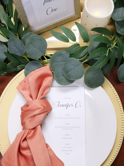 coral lamour napkins