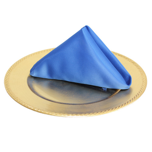 20 inch L'amour Satin Napkins Royal Blue