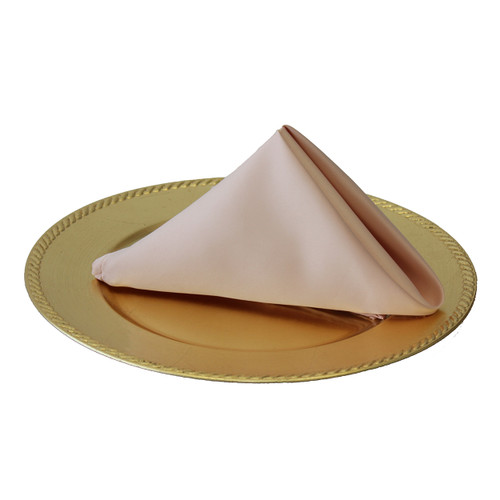 20 inch L'amour Satin Napkins Blush