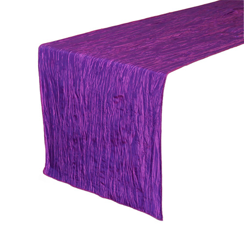 Purple Table Runners, Crinkle Taffeta Table Runner for Weddings