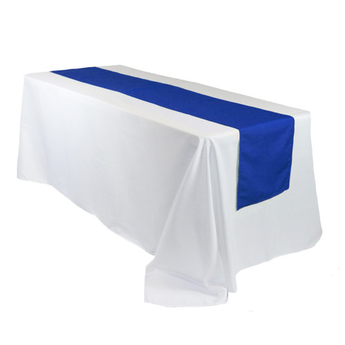 14 x 108 Inch Polyester Table Runner Royal Blue for rectangular tables