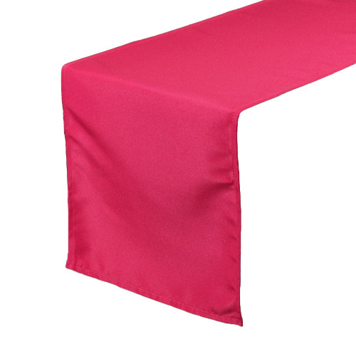 Fuchsia Table Runners, Polyester Table Runner for Weddings