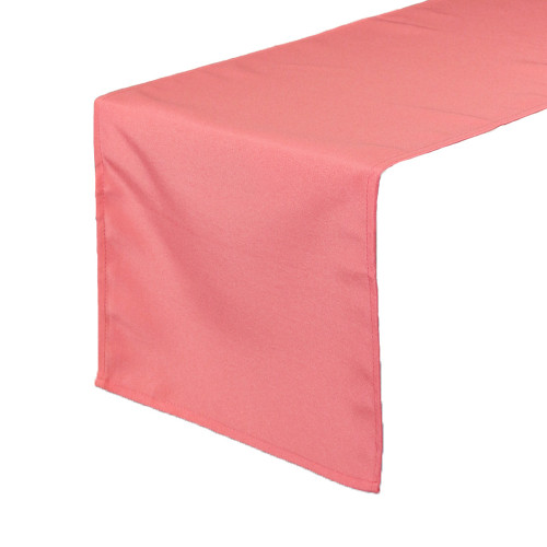 Coral Table Runners, Polyester Table Runner for Weddings
