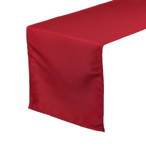 Dark Red Table Runners, Polyester Table Runner for Weddings