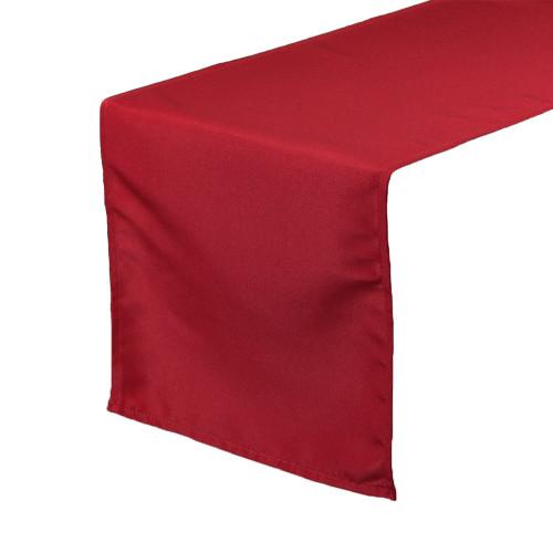 Dark Red Table Runners, Polyester Table Runner for Weddings