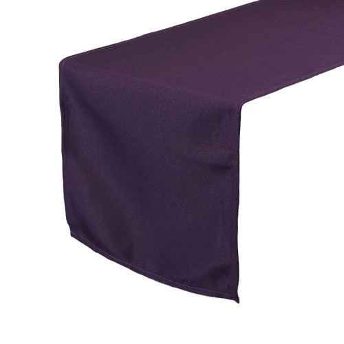 Eggplant Table Runners, Polyester Table Runner for Weddings