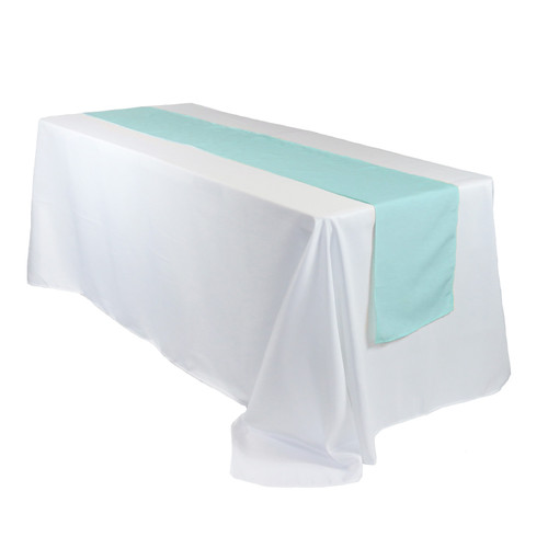 14 x 108 Inch Polyester Table Runner Tiffany on rectangular table
