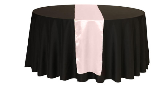 14 x 108 Inch Satin Table Runner Blush