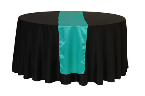 14 x 108 Inch Satin Table Runner Teal