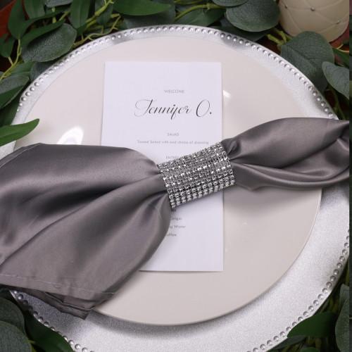 gray napkins