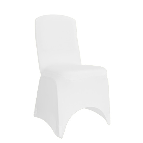 Wholesale Square Top Spandex Chair Covers White