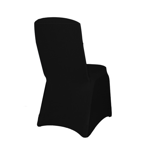Square Top Spandex Chair Covers Black