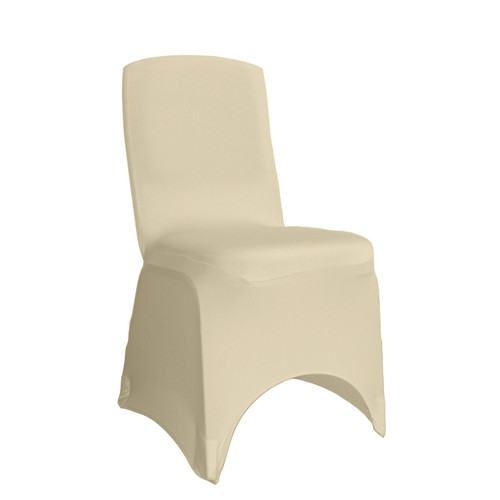 Wholesale Square Top Spandex Chair Covers Ivory