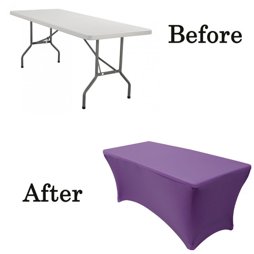 purple lifetime folding table covers