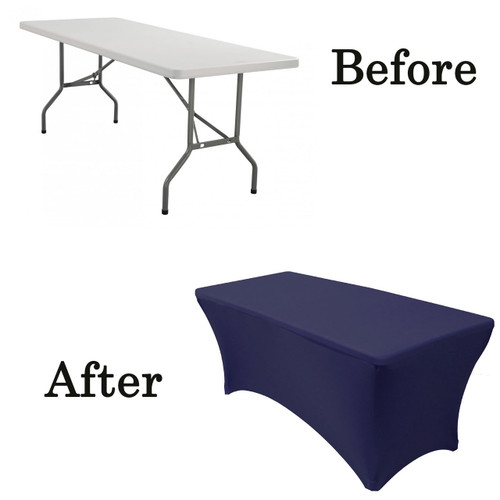 navy blue lifetime folding table covers