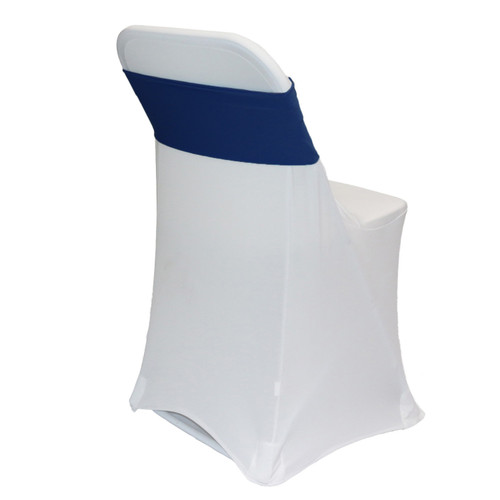 Spandex Chair Bands Navy Blue