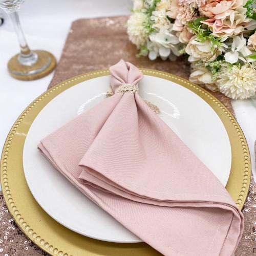 blush pink napkins