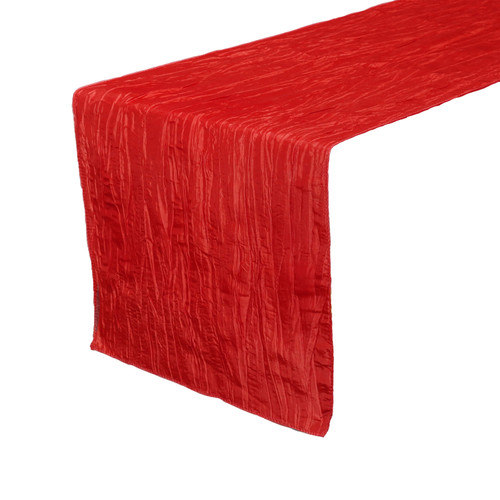 14 x 108 inch Crinkle Taffeta Table Runner Red