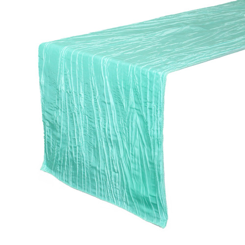 14 x 108 inch Crinkle Taffeta Table Runner Tiffany