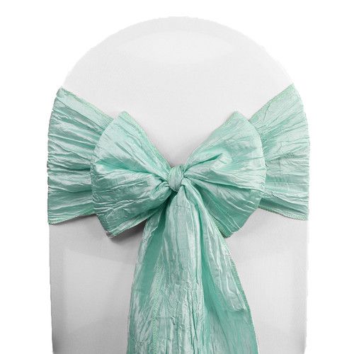 10 Pack Crinkle Taffeta Chair Sashes Tiffany