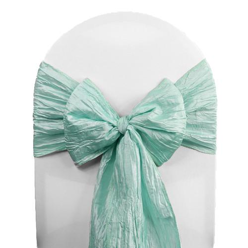 10 Pack Crinkle Taffeta Chair Sashes Tiffany