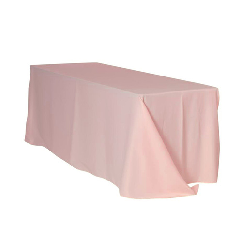 90 x 132 inch Rectangular Polyester Tablecloths Blush