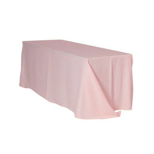 90 x 156 Inch Rectangular Polyester Tablecloth Blush