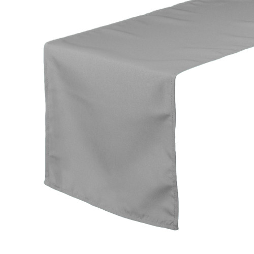 14 x 108 inch Polyester Table Runners Gray