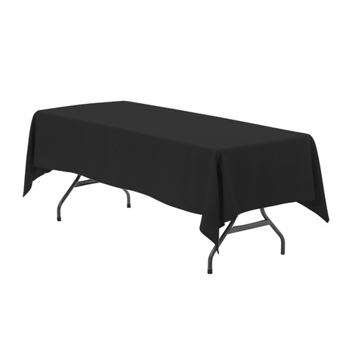 60 x 102 inch Rectangular Polyester Tablecloths Black