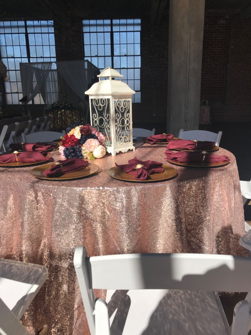 blush glitz tablecloths