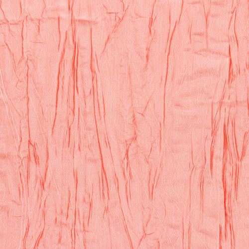 Crinkle Taffeta Coral Swatch