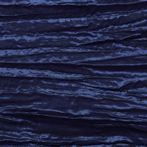 Crinkle Taffeta Navy Blue Swatch