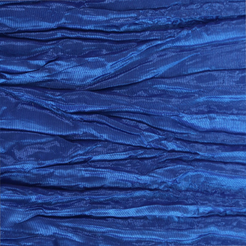 Crinkle Taffeta Royal Blue Swatch