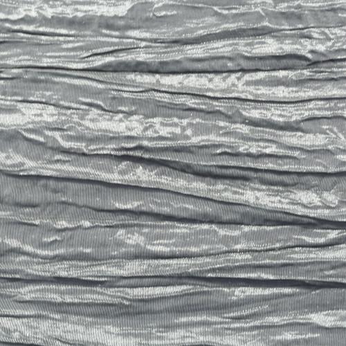 Crinkle Taffeta Dark Silver Swatch