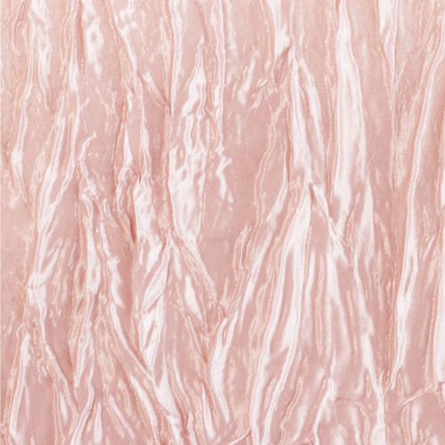 90 Inch Square Crinkle Taffeta Table Overlay Blush