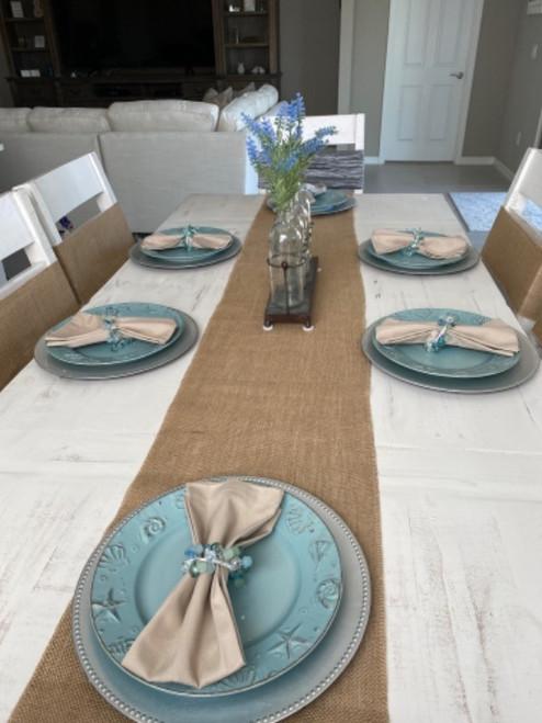 burlap table runners for weddings