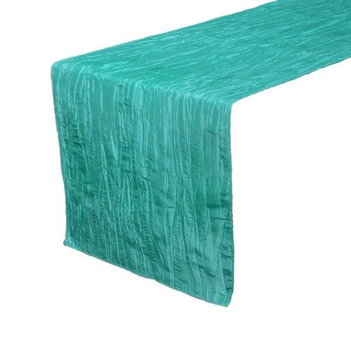 14 x 108 inch Crinkle Taffeta Table Runners Teal