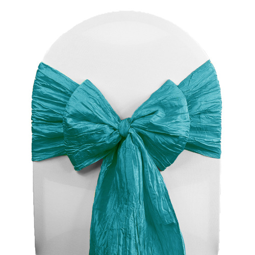 Crinkle Taffeta Chair Sashes Teal