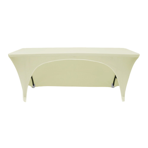 open back spandex table covers ivory