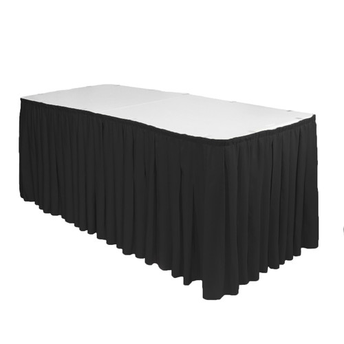 polyester table skirt black