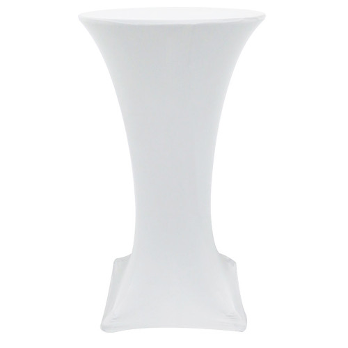 24 inch Highboy Cocktail Round Stretch Spandex Table Covers White