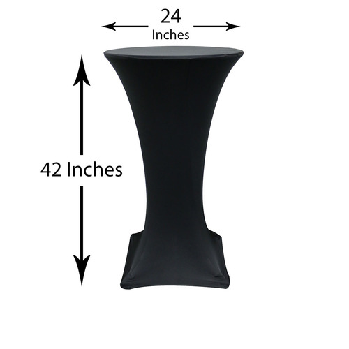measurements of spandex table cover