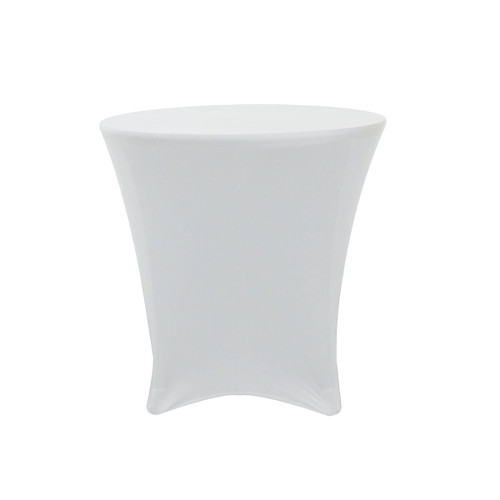 30 x 30 inch Lowboy Cocktail Round Stretch Spandex Table Covers White