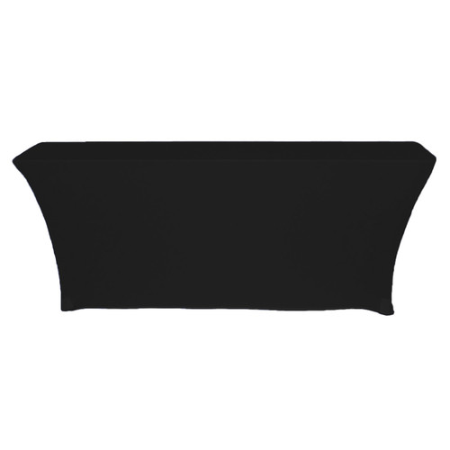 Spandex 8 Ft Open Back Rectangular Table Covers Black