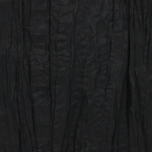 132 Inch Round Crinkle Taffeta Tablecloth Black