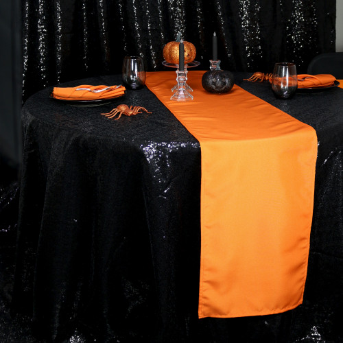 Halloween orange polyester runners