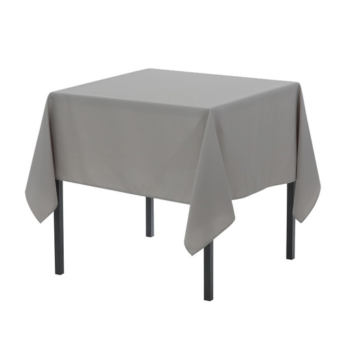 60 x 60 inch Square Polyester Tablecloth Gray